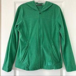 REI full zip fleece hoodie with zip pockets
